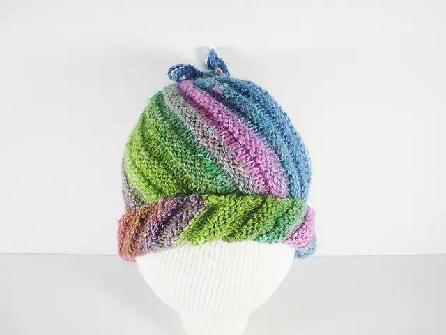 2 façons pour le bonnet spirale