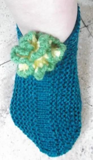 Des chaussons au tricot pour nous