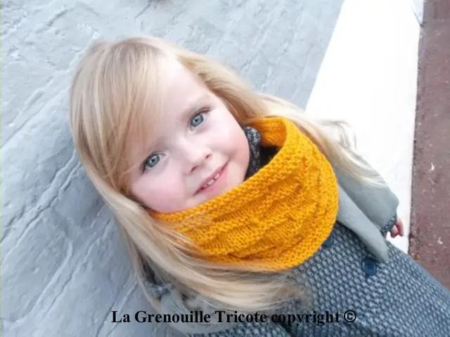 Le snood mirabelle de ma petite princesse