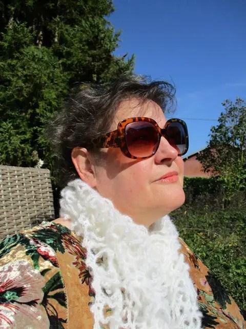 Mon petit foulard en mohair et au crochet