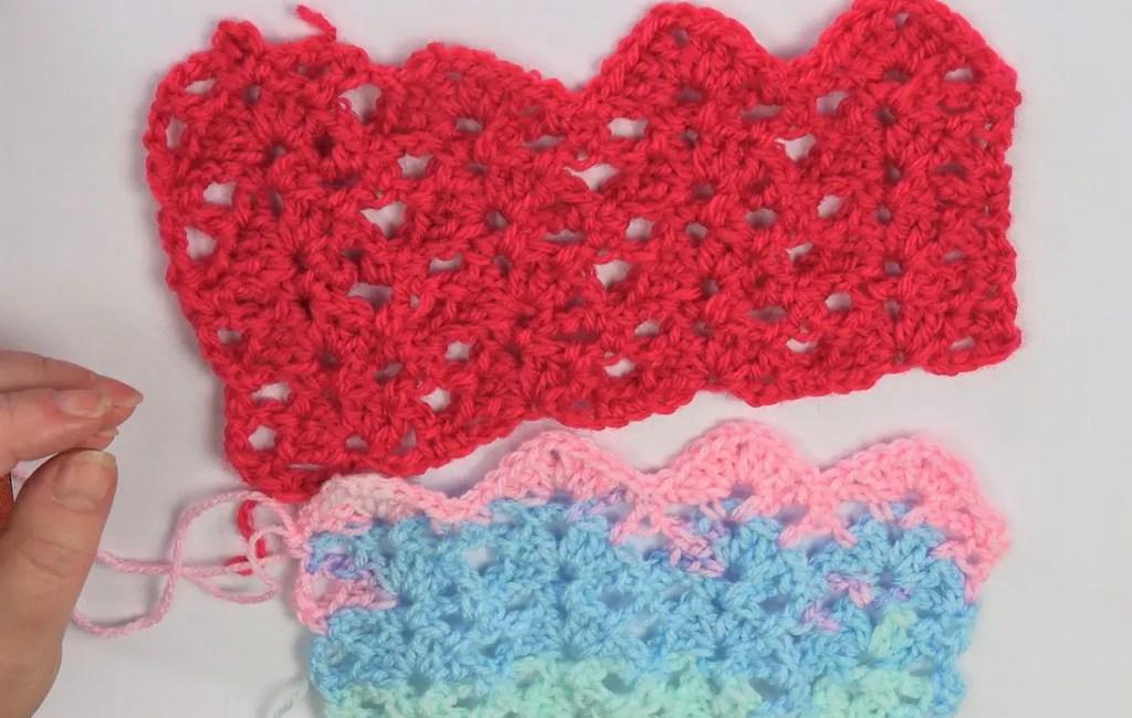 un point crochet tr s facile faire la grenouille tricote. Black Bedroom Furniture Sets. Home Design Ideas