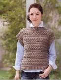 au tricot un pull sans manche
