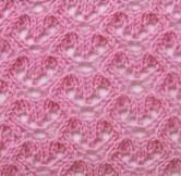 Petits cœurs ajourés au tricot