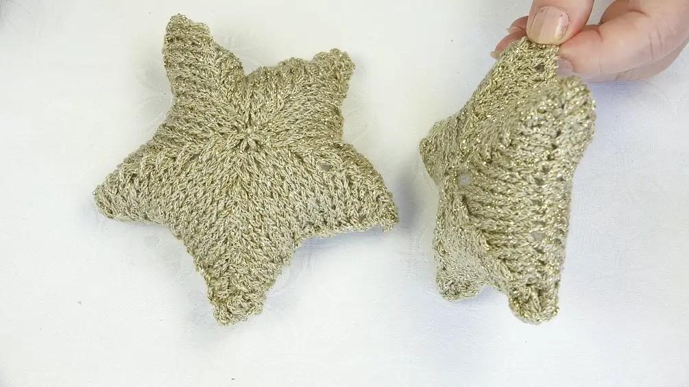 comment faire des étoiles au tricot