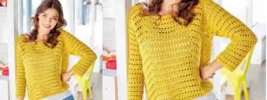 Un pull simple et élégant au crochet