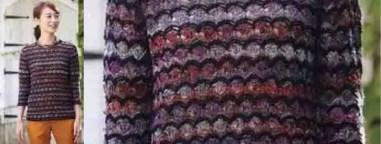 Le pull écaille et chaînette au crochet