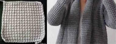 Un cardigan cocooning au tricot