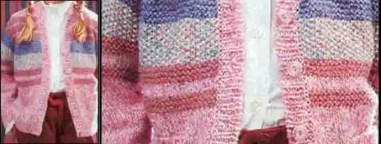 Un gilet multicolore unisexe au tricot