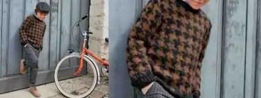 Un pull rétro pied de poule au tricot