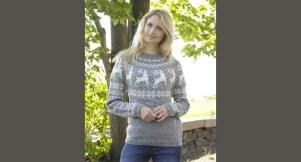 Le pull de noël tricoté main