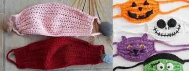 Masque de protection au crochet pour halloween
