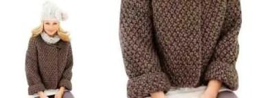 Un modèle de gilet femme au tricot