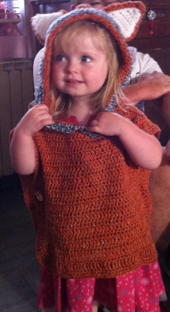 le poncho de ma petite princesse partie 1