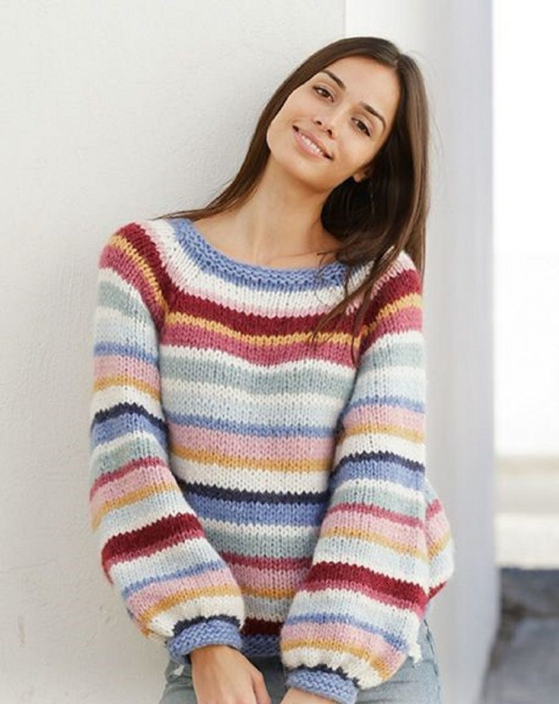 Modèle tricot top-down