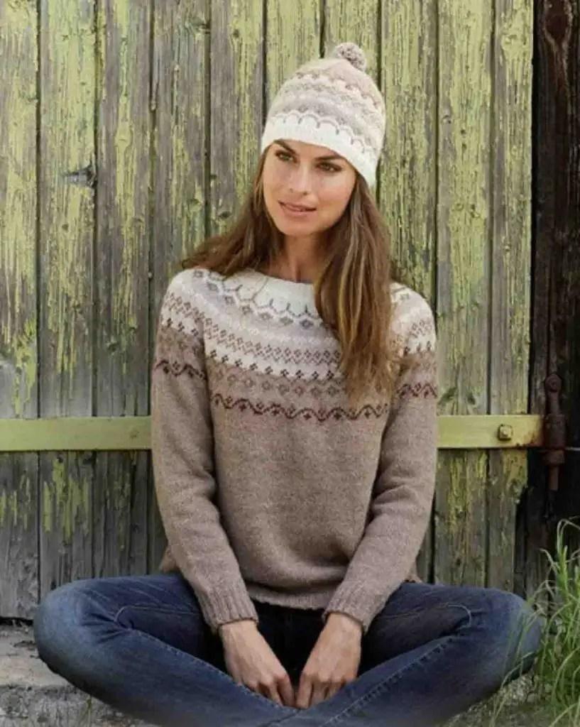 Pull islandais simple et facile à tricoter