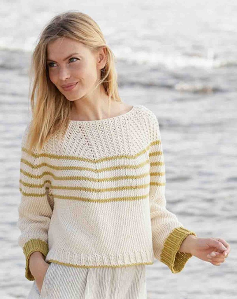 Le pull marin sans couture au tricot