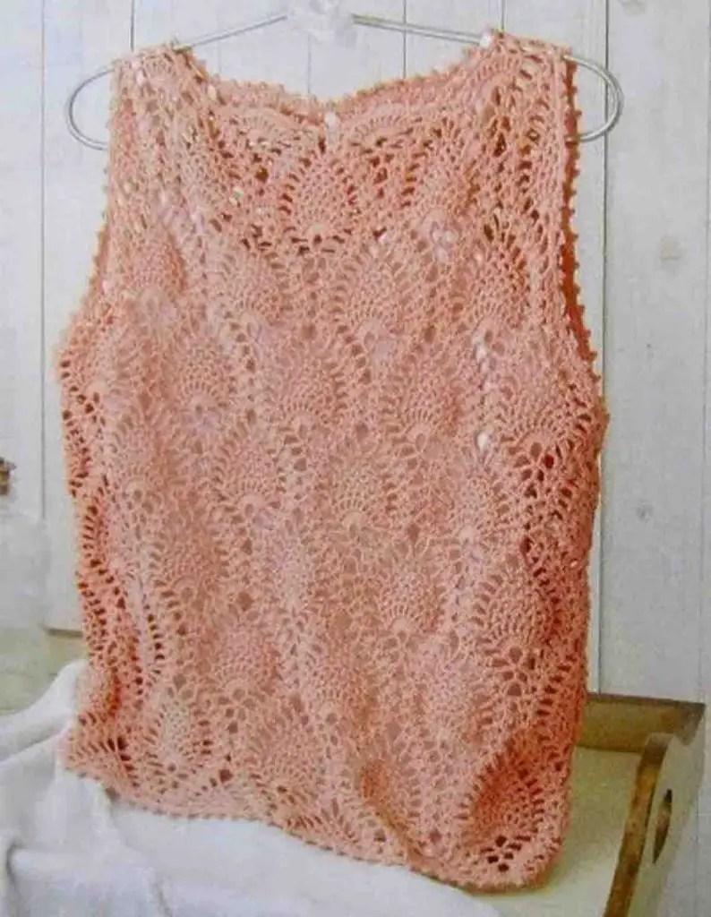 Summer crop top crochet
