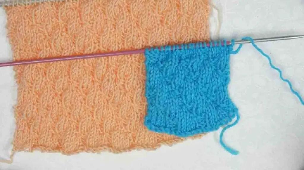 Au tricot un point facile pour une écharpe