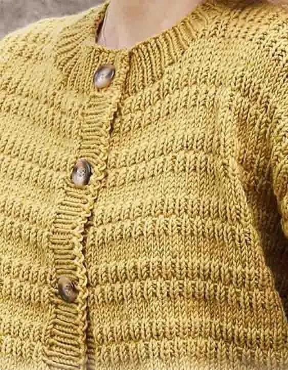 Un modèle tricot gilet femme gratuit