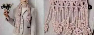 Point au crochet pour écharpe