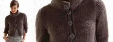 Tricoter un gilet court femme