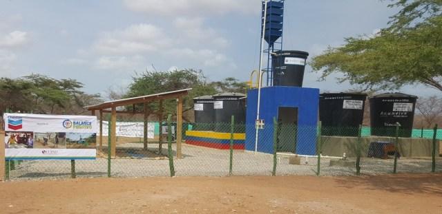 En esta infraestructura se encuentra el pozo que construyó la empresa en zona rural de Manaure.