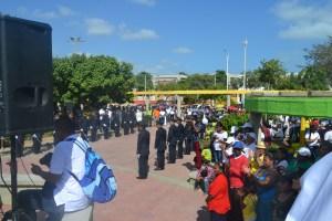 Actos protocolarios en el parque Simón Bolivar.