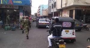 El Ejército Nacional patrullando en la ciudad fronteriza.