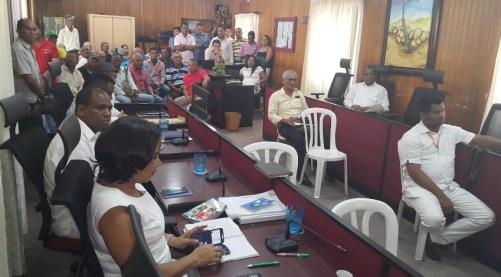 Aspecto del salón de sesiones Jose María Ballesteros del Concejo de Riohacha.