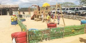 Un parque para que los niños puedan tener donde jugar.