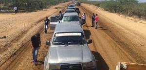 Una caravana de automotores dispuso a la administración municipal para llevarle solución a sus conciudadanos.