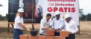 En el municipio de Distracción el Vicepresidente puso la primera piedra de la Urbanización Villa Ana II y presidió contrato para la construcción de 130 viviendas para familias en condición de vulnerabilidad y pobreza extrema