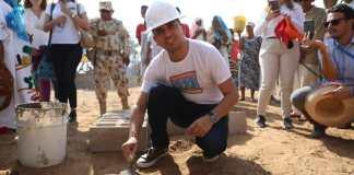 A la memoria de estos futuros beneficiados esta imagen del Ministro Jonathan Malagón, cuando llegó a esa zona rural del municipio de Maicao y ahí manifestó que era un día importante para Sararao y toda La Guajira.