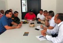 Aspecto de la reunión del Comité de Orden Público que lidera el Alcalde y en donde tienen asiento todas las autoridades con asiento en el Distrito.