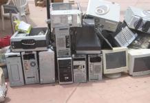 Estos son algunos aparatos inservibles que se estarán recogiendo en San Juan del Cesar.