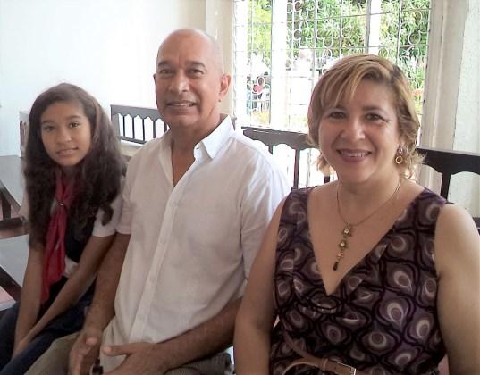 Pilar Fonseca, Franklin Peñalver y Pilar Fonseca Peñalver.