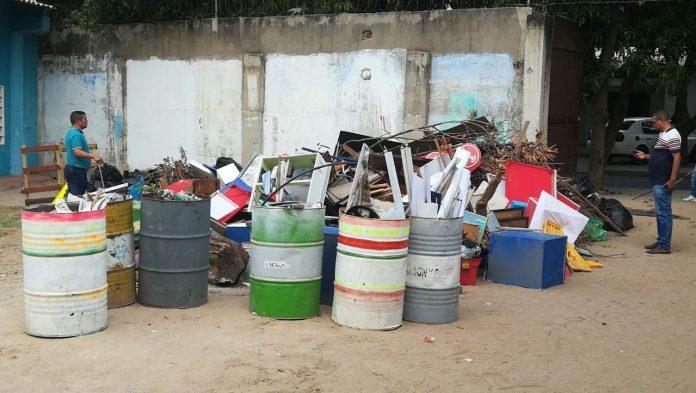 Los desechos sólidos que fueron recolectados