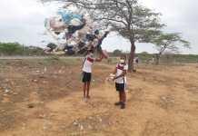 25 toneladas de residuos sólidos, fueron retirados y exterminados de botaderos satélites en la salida de Riohacha hacia el sur de La Guajira.