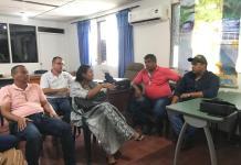 El secretario de Gobierno distrital Ronal Gómez García, lideró reunión, con conductores y gerentes de EDS sobre problemática de combustible.
