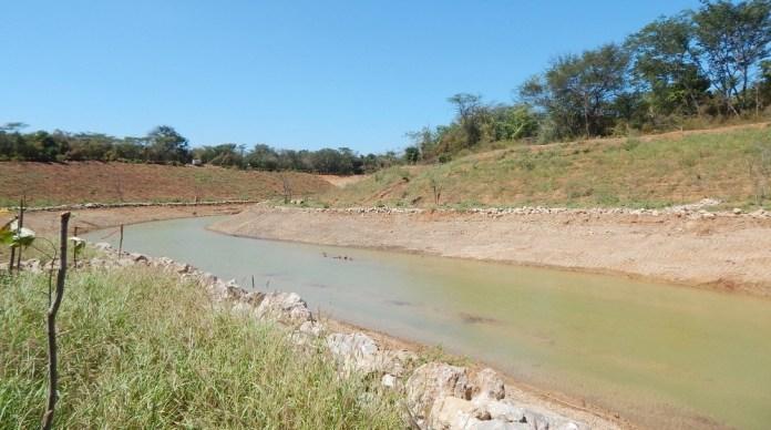 Este es el nuevo cauce del arroyo Bruno, proyecto paralizado por la Corte Constitucional desde el año 2017.