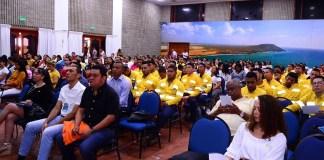 Los asistentes en el taller seminario de la cultura del Cuidado, realizado en Anas Mai y organizado por la multinacional Cerrejón.