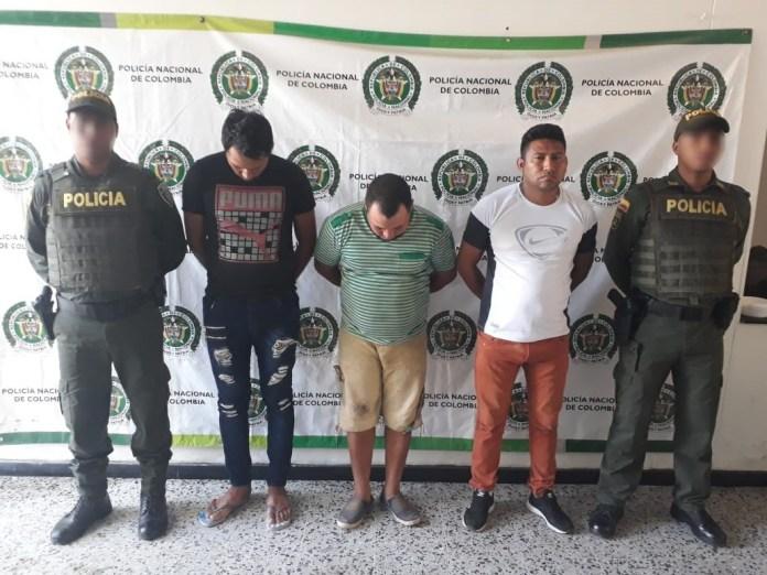 Los detenidos fueron dejados a disposición en la Unidad de Reacción Inmediata URI.
