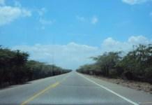 En el kilómetro 53 de la vía que de Maicao conduce a Riohacha, fue asesinado Weber Hermes Epieyú
