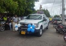 La caravana la encabezó la Policía Nacional, que recorrieron varias calles importantes de Riohacha.