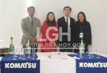 Aspecto de la firma del convenio de cooperación para mejorar la educación de jóvenes de La Guajira