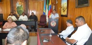 Aspecto de la instalación del tercer periodo de sesiones ordinarias del Concejo de Riohacha.