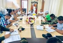 Aspecto de la reunión de seguimiento del proceso eleccionario de este 27 de octubre del 2019.