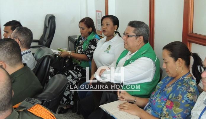 Aspecto de la reunión del Comité departamental de Justicia Transicional de La Guajira.