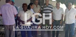 Aspecto del reclamo que realizaron ante la oficina del ICA en San Juan del Cesar, los ganaderos de la misma localidad.