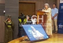 Instantes cuando Patricia Linares Prieto, presidenta de la JEP, hacía su intervención, sobre defender la Paz, esa que se gestó entre el gobierno colombiano y los alzados en armas.